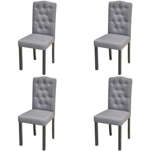 Krzesła do jadalni tapicerowane tkaniną, ciemnoszare, 4 szt.