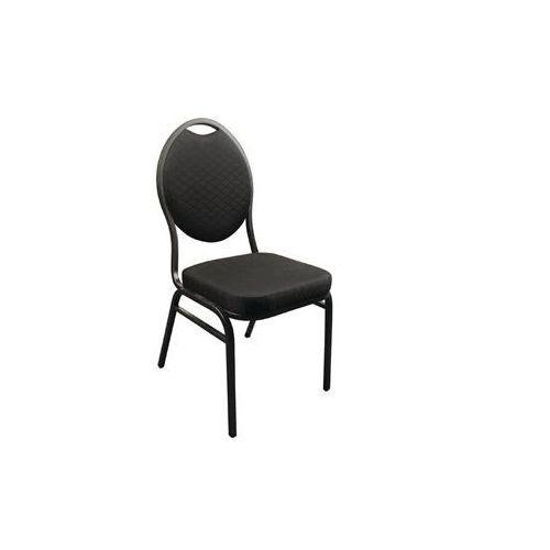 Bolero Krzesło sztaplowane | czarne | 430x530x(h)900mm | 4szt.