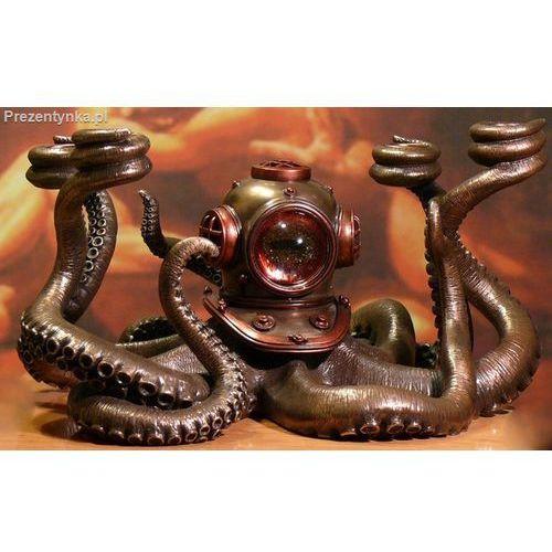 Veronese Ośmiornica świecznik steampunk