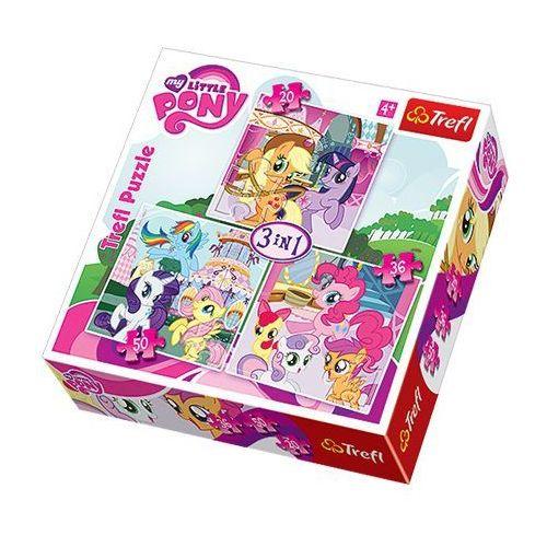 Trefl 20/36/50 Puzzle 3w1 zabawy kucyków trefl (5900511341904)
