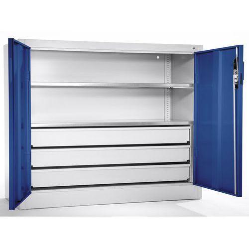 Szafa o dużej pojemności,szafka dostawna z 2 półkami, 3 szuflady marki Cp