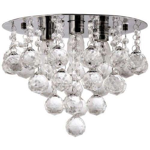 Plafon LAMPA sufitowa VEN P-E 1437/3-30 kryształowa OPRAWA glamour crystal przezroczysta almonte, VEN P-E 1437/3-30