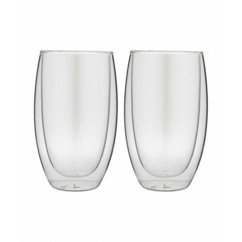 Forever Zestaw 2 filiżanek termicznych do latte 2 x 400 ml podwójna szklana ścianka