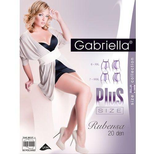 Gabriella Rajstopy rubensa plus size 161 6-7 20 den 7-3xl, grafitowy, gabriella