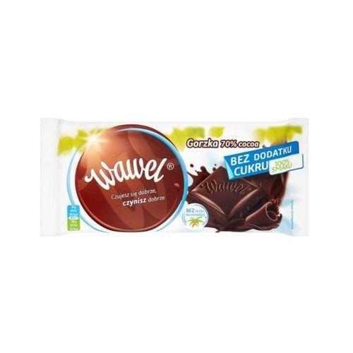 Wawel 100g czekolada deserowa 70% bez dodatku cukru