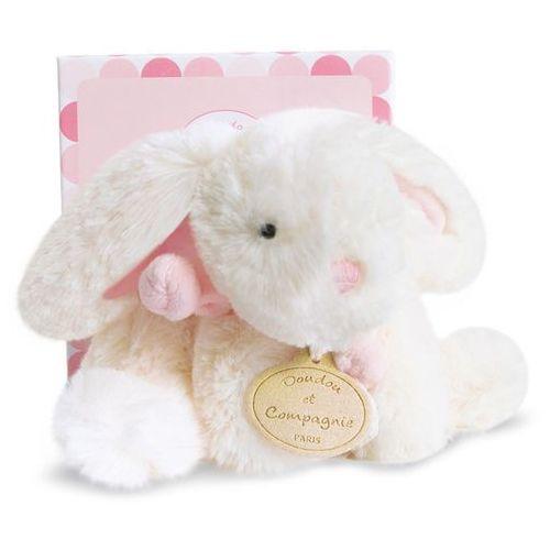 Pluszowy królik w kolorze różowym mały marki Doudou et compagnie
