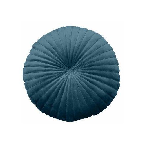 Poduszka okrągła welurowa tony ciemnoniebieska śr. 40 cm marki Inspire
