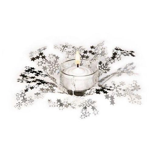 Świecznik świąteczny smila - srebrny marki Contento