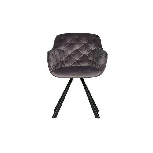 Woood krzesło do jadalni elaine aksamitne antracyt 373621-a