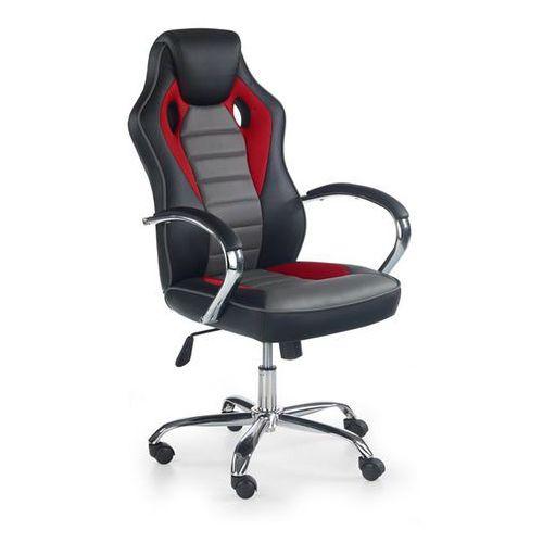 Halmar Fotel dla gracza gamingowy scroll czerwono-popielaty