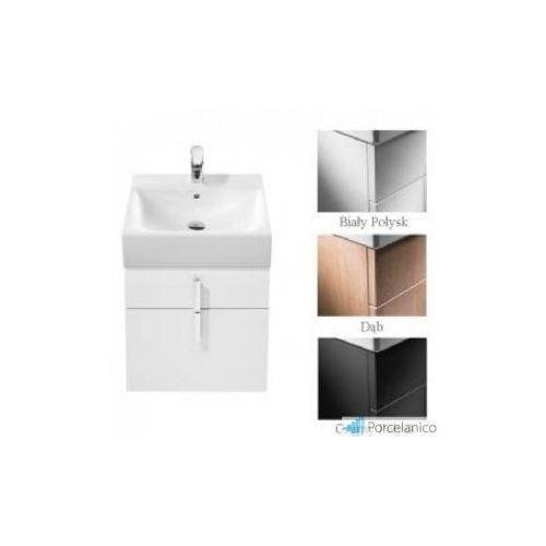 diverta szafka pod umywalkę z dwoma szufladami 45,3 x 42,5 x 51 cm do umywalki diverta 47 cm a8 marki Roca