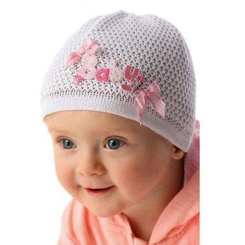 Czapka niemowlęca biała 5X34AV (5900298452114)