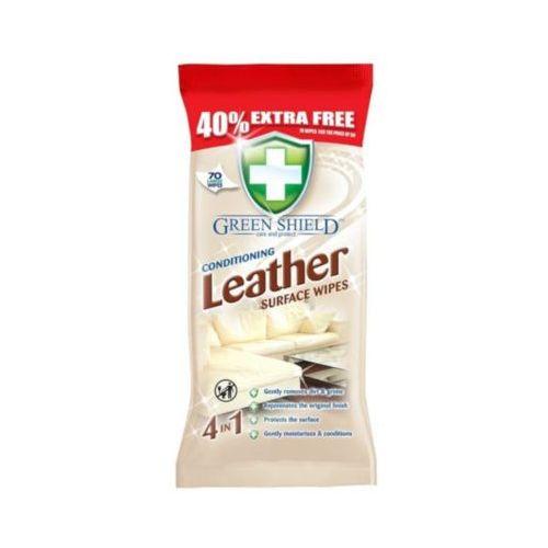 70szt leather surface wipes chusteczki nawilżane do czyszczenia powierzchni skórzanych marki Green shield
