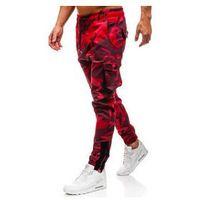 Spodnie męskie joggery bojówki moro-czerwone denley 0705, Athletic
