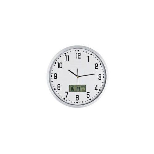 Zegar ścienny solid z datą i termometrem, kolor Zegar