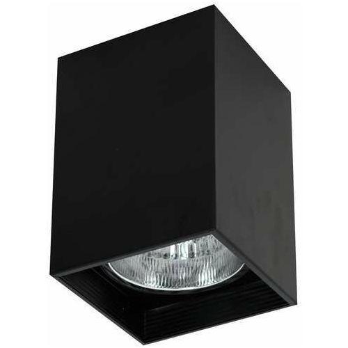 Luminex Downlight square 7245 oprawa sufitowa spot 1x60W E27 czarny (5907565972450)
