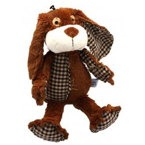 Wesoła zabawka dla psa wykonana z pledu w kratę