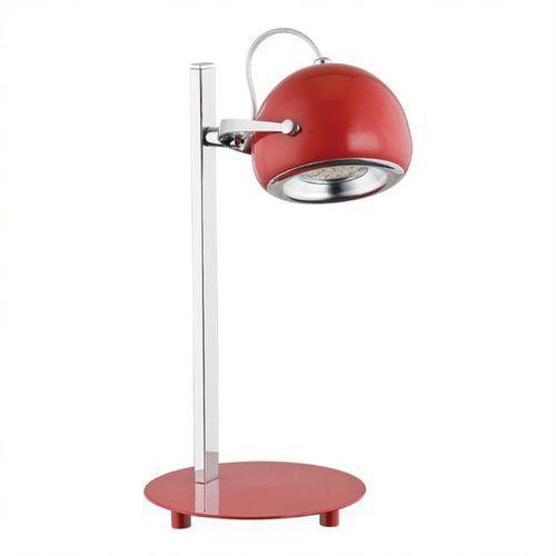 Lemir Flavio lampka stołowa 1 pł. / chrom + czerwony, dodaj produkt do koszyka i uzyskaj rabat -10% taniej!