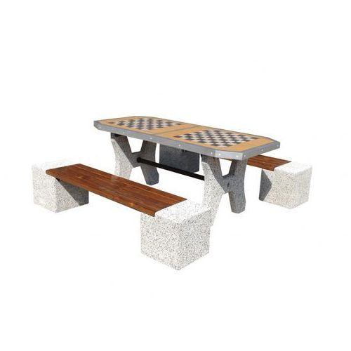 Betonowy stoły do gry w szachy z ławkami marki Eco-market.pl