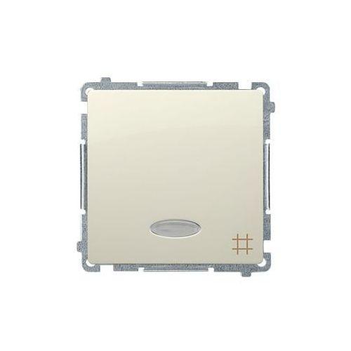 SIMON BASIC Łącznik krzyżowy z podświetleniem (moduł) 10AX, 250V~, szybkozłącza; beż BMW7L.01/12 WMUL-071xxx-9011