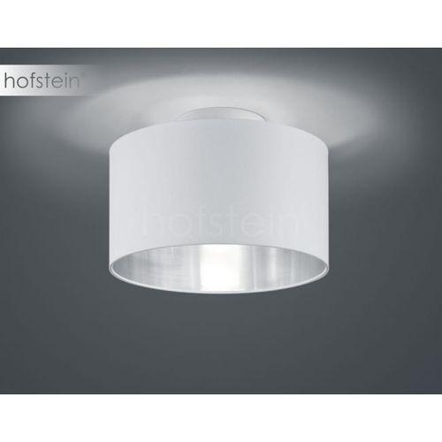 Trio Plafon lampa sufitowa hostel 608200289 okrągła oprawa abażurowa pasteri biała srebrna