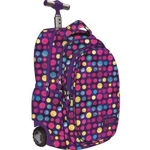 St.reet plecak szkolny na kółkach kropki multicolor 609633 od producenta St. majewski
