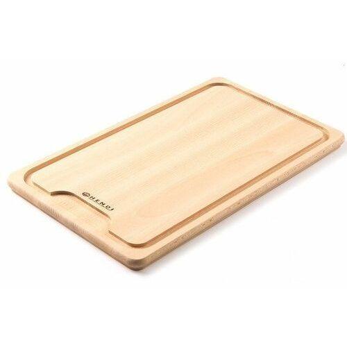 drewniana deska z wycięciem do krojenia mięsa | 390x230mm - kod product id marki Hendi