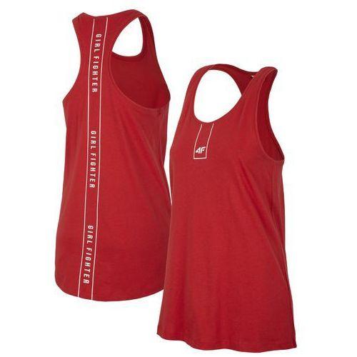 Damska koszulka bokserka h4l19 tsd003 62s czerwony xl marki 4f