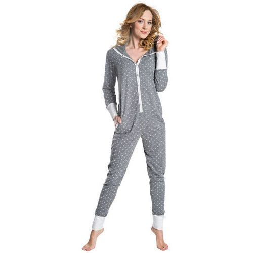Kombinezon do spania piżama Alezja Italion Fashion - Szary, kolor Szary