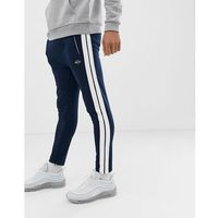 Replay jogger with side stripe in navy - Navy, kolor szary