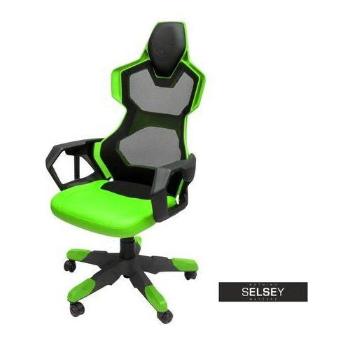 Selsey fotel gamingowy e-blue cobra air czarno-zielony z wentylacją (5903025130408)