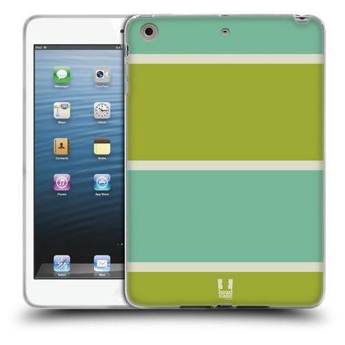 Etui silikonowe na tablet - Paski Niebieskie i Zielone, kolor zielony
