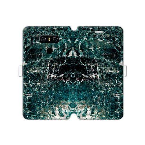 LG G6 - etui na telefon Wallet Book Fantastic - zielony marmur, ETLG495WBFCFB031000