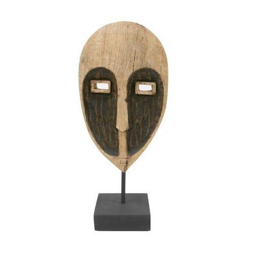 HK Living Ręcznie wykonana papuaska maska z drewna na metalowej podstawie AOA9948 (8718921015837)