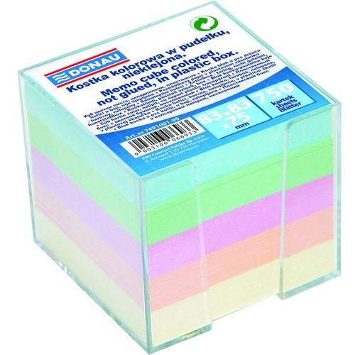 Kostka DONAU nieklejona, w pudełku, 95x95x95mm, mix kolorów