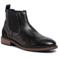 Sztyblety - elevated leather mix chelsea fm0fm02424 black 990 marki Tommy hilfiger