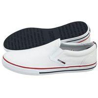 Tenisówki Tommy Hilfiger Tommy Jeans Textile Slip On EM0EM00002 100/White (TH6-a), kolor biały