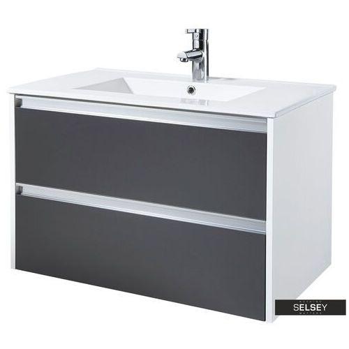 szafka pod umywalkę antari 80 cm grafitowa marki Selsey