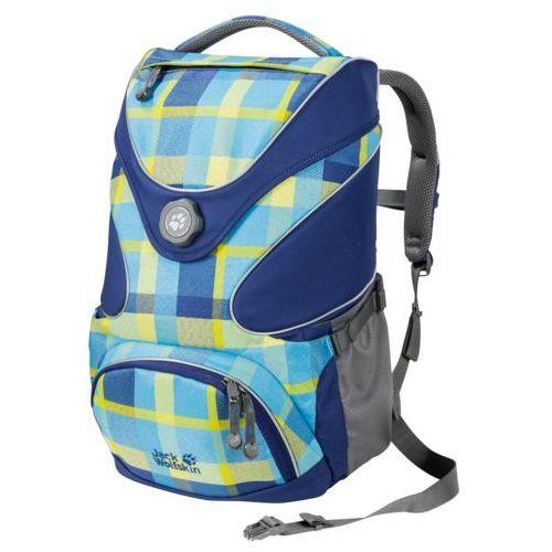 Plecak szkolny ramson top 20 - blue woven check marki Jack wolfskin