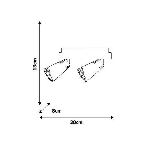 Milagro Oświetlenie punktowe rick 2xe14/40w/230v