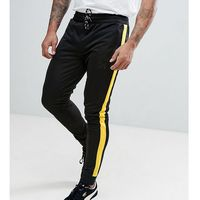 Good for nothing muscle track joggers in black with yellow side stripe exclusive to asos - black