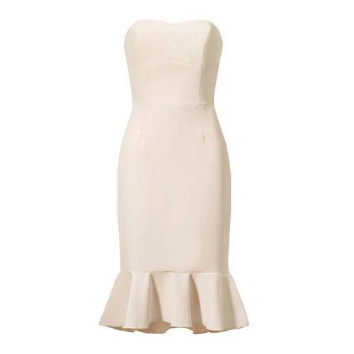 Sukienka Klara w kolorze nude, suknia, sukienka sugarfree.pl