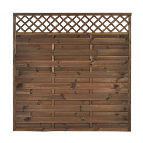 Płot szczelny z kratką 180x180 cm drewniany nive marki Naterial