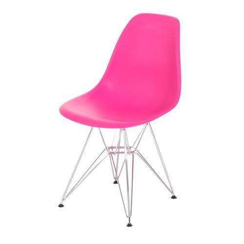 Krzesło p016 pp inspirowane dsr - różowy ciemny marki D2.design