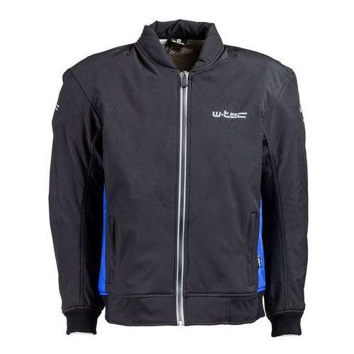 Męska kurtka motocyklowa soft-shell langon nf-2753, czarno-niebieski, xxl marki W-tec