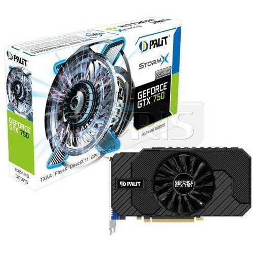 OKAZJA - Karta graficzna PALIT GeForce GTX750 1024MB DDR5/128b CRT/D/H StormX OC - NE5X750THD01F