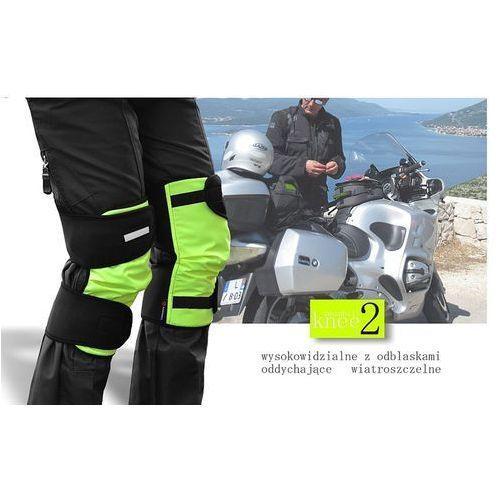 NAKOLANNIKI KNEE 2 MOTO Z ODBLASKIEM - produkt z kategorii- Motocyklowe ochraniacze kolan