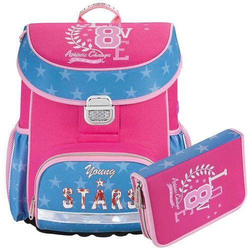 Hama zestaw szkolny tornister + piórnik z wyposażeniem / Young & Stars - Young & Stars, kolor niebieski