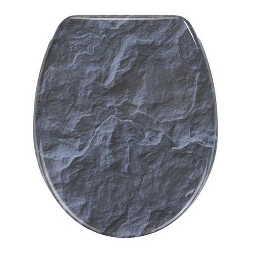 Deska sedesowa SLATE ROCK - Duroplast, wolnoopadająca, WENKO