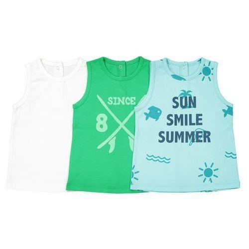Zestaw 3 koszulek na ramiączkach 1 miesiąc - 3 lata